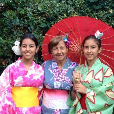 Family kimono party