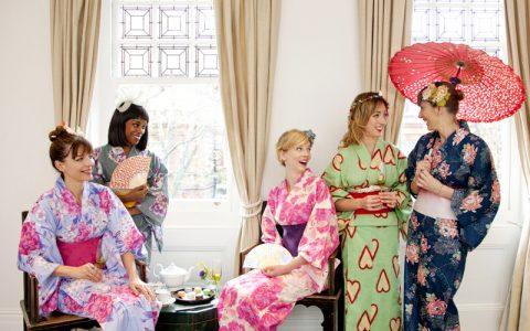 classy kimono hen party