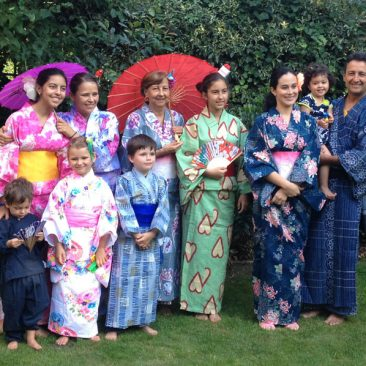 bespoke events, japanese kimono party