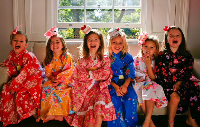 children's kimono birthday party