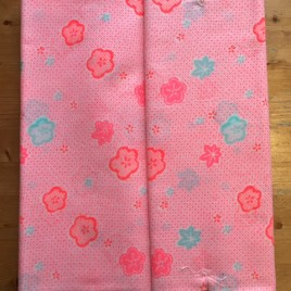 Vintage kimono fabric bolt plum flower