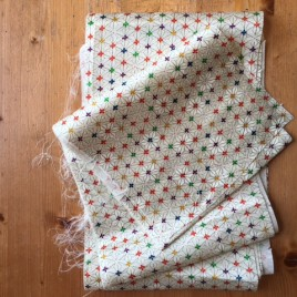 Vintage kimono fabric white hemp leaf – 2