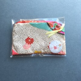Vintage kimono make up bag