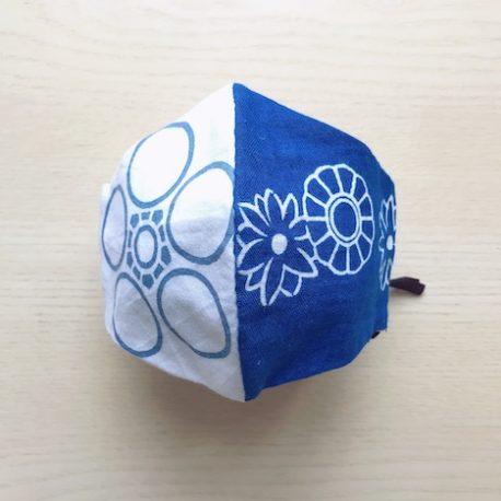 Japanese tenugui mask blue white sale
