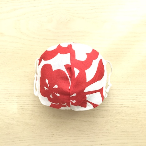 Japanese tenugui mask red plum