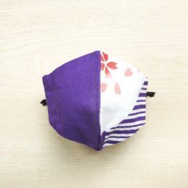 Japanese tenugui mask sakura purple