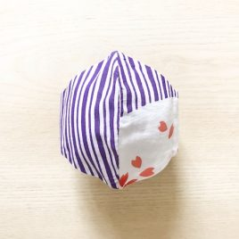 Japanese tenugui mask sakura stripe