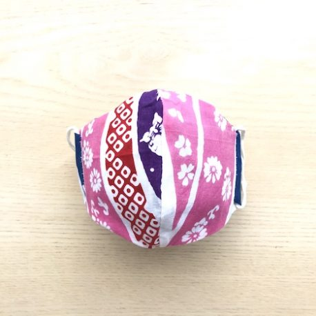 Japanese tenugui mask tsunagi pink ura
