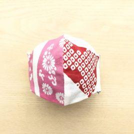 japanese tenugui mask mame pink