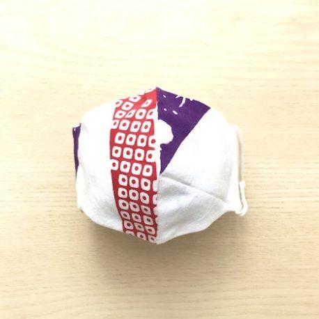 japanese tenugui mask mame purple