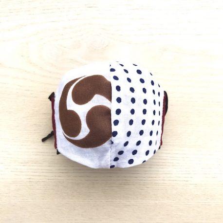 japanese tenugui mask maroon nishi ura