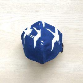 japanese tenugui mask tsuru