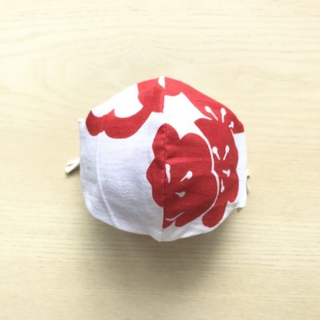 japanese tenugui mask ume flower red