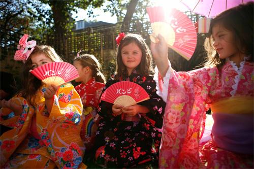 Girl's Kimono party