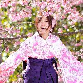 sakura hakama kimono