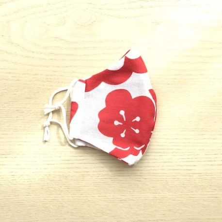 Japanese tenugui mask red plum1