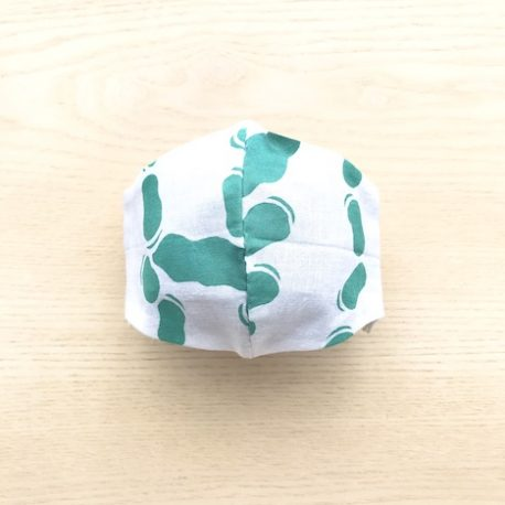 japanese tenugui mask beans blue