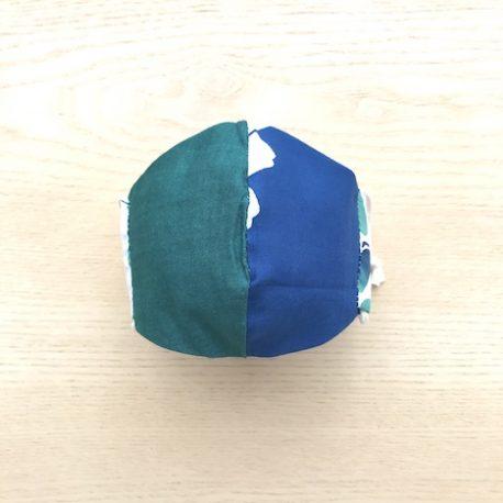 japanese tenugui mask beans blue ura